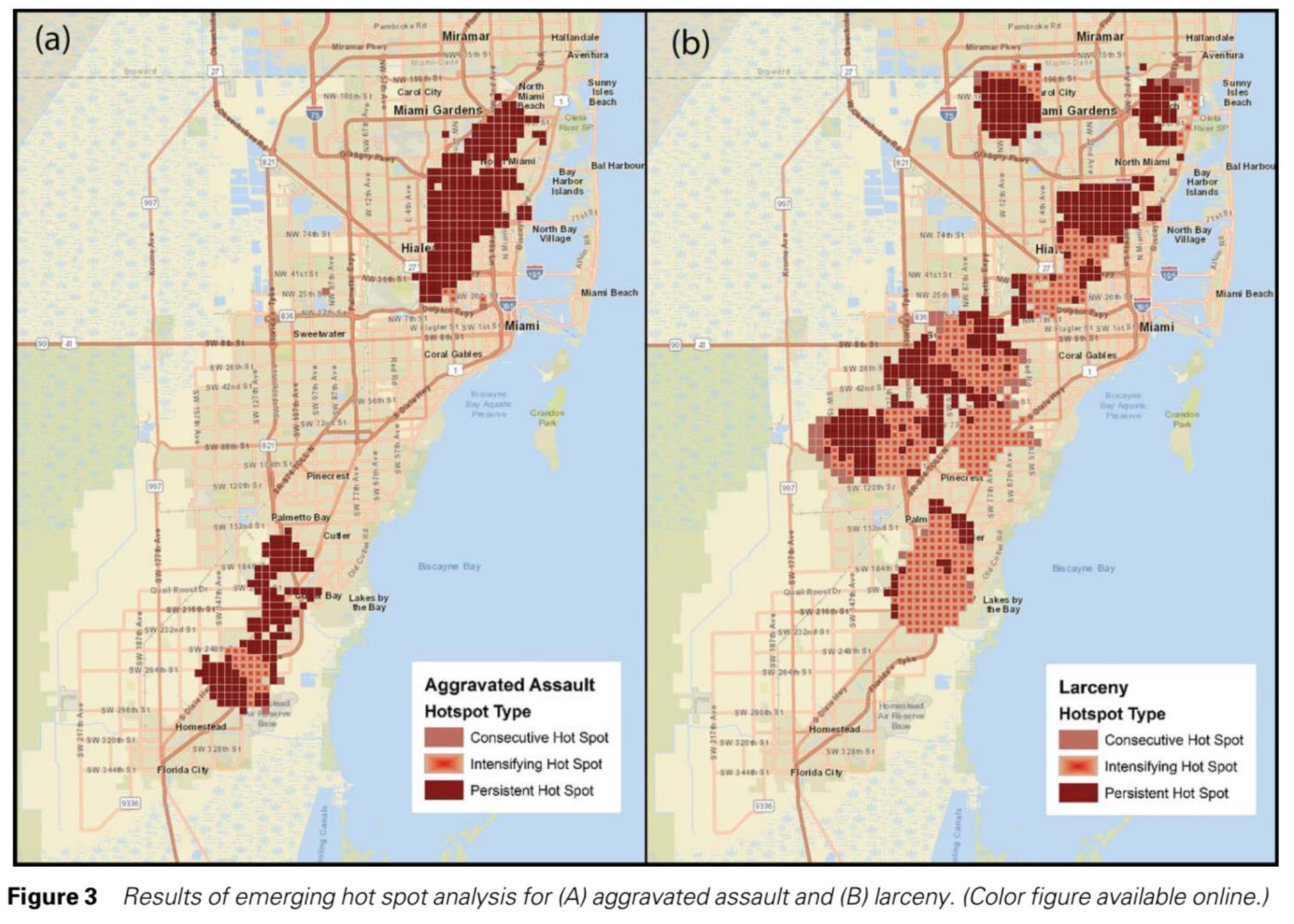 Brottslighet Karta Miami Miami Brottslighet Karta Florida Usa
