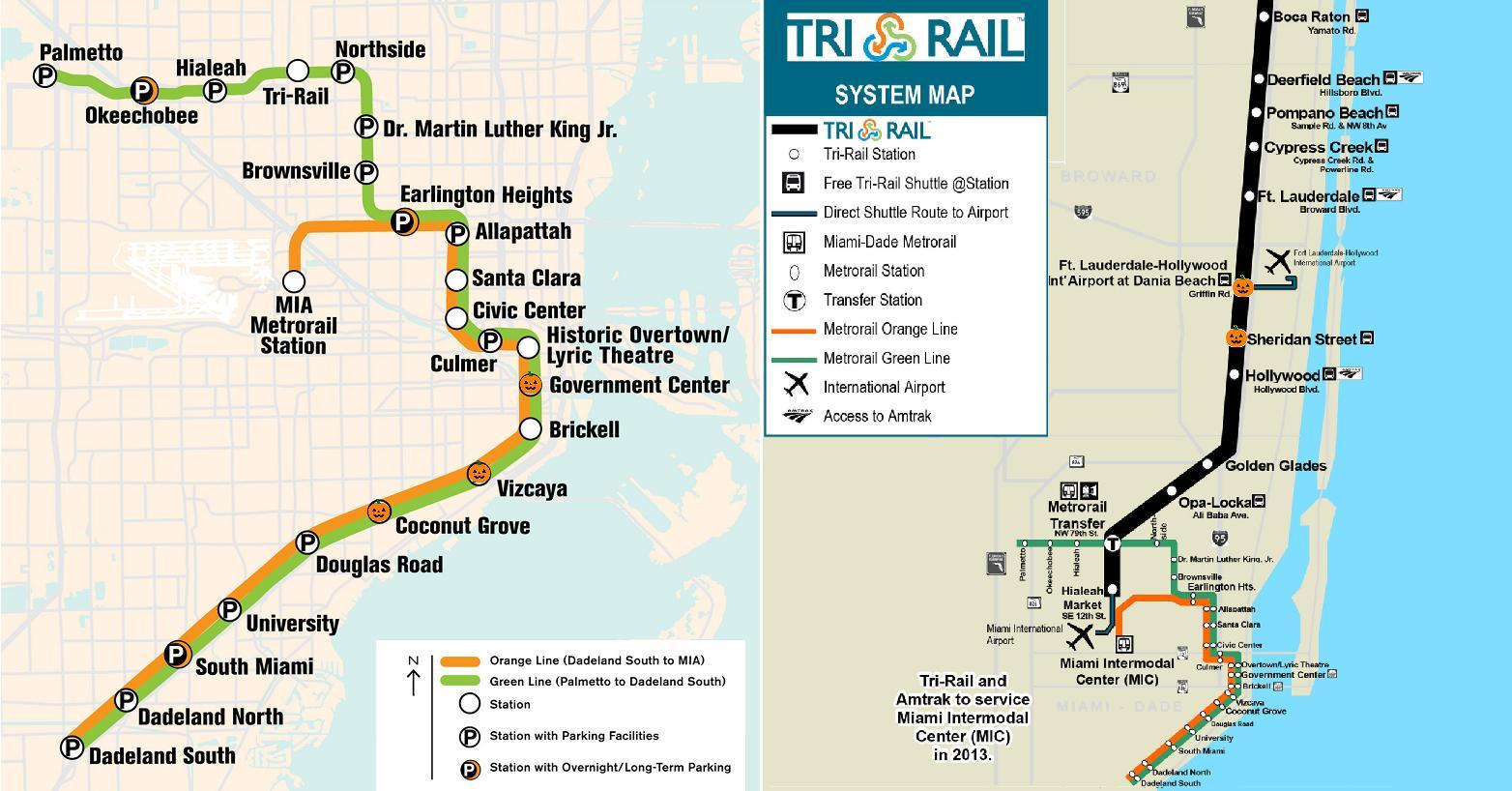 Metro Miami Karta Metro Karta Miami Florida Usa