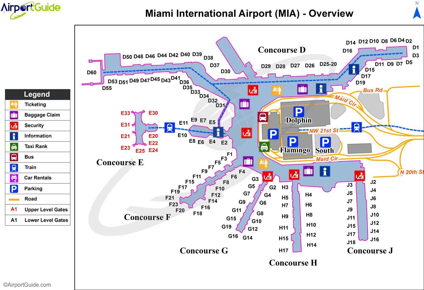 karta dubai flygplats Miami internationell flygplats karta   Karta över Miami  karta dubai flygplats