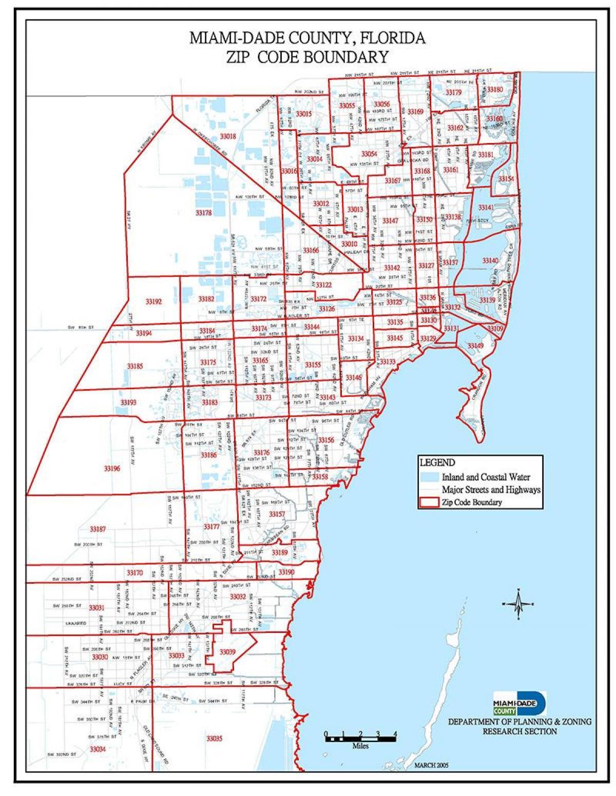 Miami Postnummer Karta Postnummer Miami Karta Florida Usa